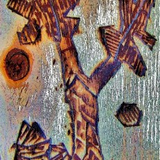 pirografiado higuera